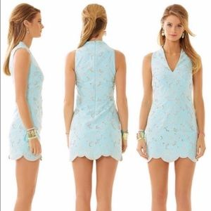 Lilly Pulitzer Estella High Collar Shift Dress